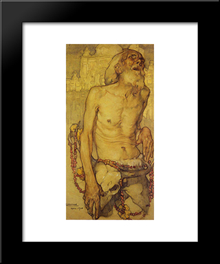 El Ciego: Modern Black Framed Art Print by Saturnino Herran