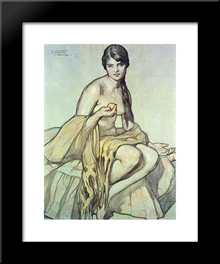 El Rebozo: Modern Black Framed Art Print by Saturnino Herran