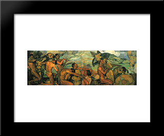 Nuestros Dioses: Modern Black Framed Art Print by Saturnino Herran