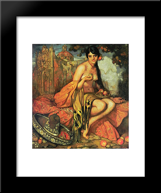 Unknown Title: Modern Black Framed Art Print by Saturnino Herran