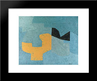 Composition: Modern Black Framed Art Print by Serge Poliakoff
