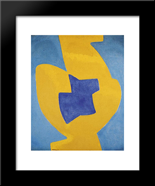 Composition Abstraite: Modern Black Framed Art Print by Serge Poliakoff