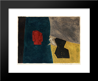 Composition Bleue, Jaune Et Grise: Modern Black Framed Art Print by Serge Poliakoff