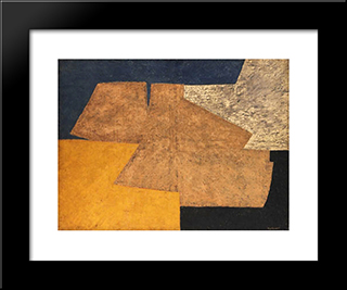 Composition Jaune, Mauve, Bleu Et Noir (La Table D'Or): Modern Black Framed Art Print by Serge Poliakoff