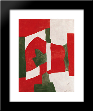 Untitled: Modern Black Framed Art Print by Serge Poliakoff