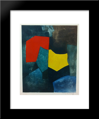 Xvi: Modern Black Framed Art Print by Serge Poliakoff