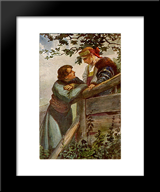By The Fence: Modern Black Framed Art Print by Sergey Solomko