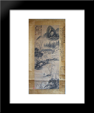 Unknown Title: Modern Black Framed Art Print by Shen Zhou