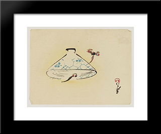 Bowl: Modern Black Framed Art Print by Shibata Zeshin