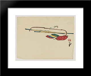 Unknown Title: Modern Black Framed Art Print by Shibata Zeshin