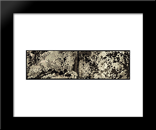 10,000 Ugly Inkblots: Modern Black Framed Art Print by Shitao
