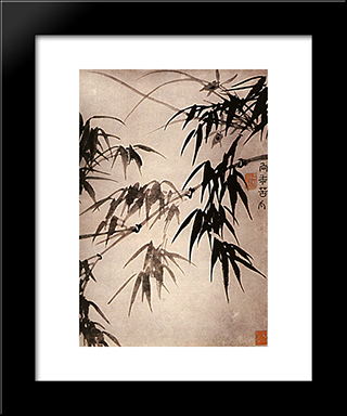 Bamboo: Modern Black Framed Art Print by Shitao