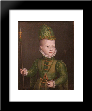 Portrait Of A Boy At The Spanish Court: Modern Black Framed Art Print by Sofonisba Anguissola