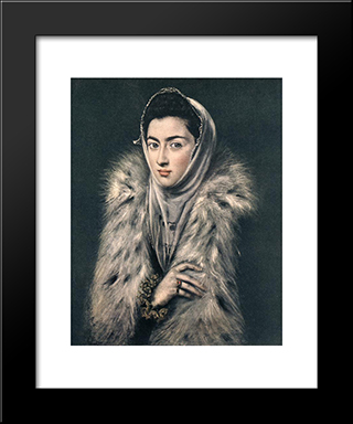 Portrait Of Caterina Micaela Of Spain: Modern Black Framed Art Print by Sofonisba Anguissola
