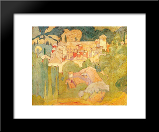 Abbey Koutloumousiou: Modern Black Framed Art Print by Spyros Papaloukas
