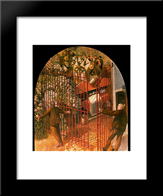 Convoy Of Wounded Soldiers Arriving At Beaufort Hospital Gates: Modern Black Framed Art Print by Stanley Spencer