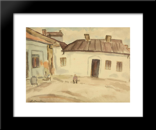 In Front Of The House: Modern Black Framed Art Print by Stefan Dimitrescu