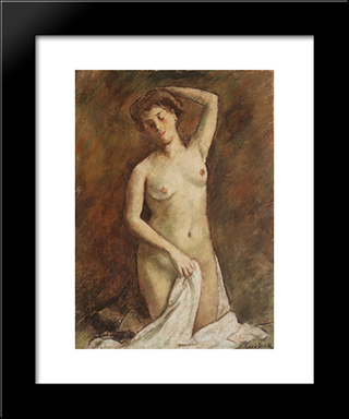 After Bath: Modern Black Framed Art Print by Stefan Luchian