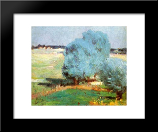 Chiajna Willows: Modern Black Framed Art Print by Stefan Luchian