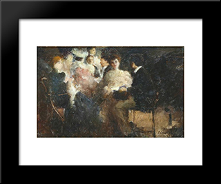 Composition: Modern Black Framed Art Print by Stefan Luchian