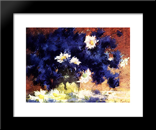 Cornflowers: Modern Black Framed Art Print by Stefan Luchian