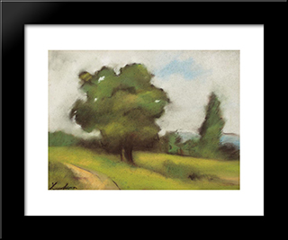 Countryside Path (Brebu): Modern Black Framed Art Print by Stefan Luchian