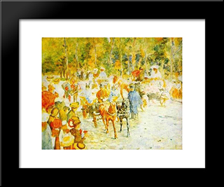Flower Fight On The Road: Modern Black Framed Art Print by Stefan Luchian