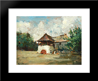 House In Oltenia: Modern Black Framed Art Print by Stefan Luchian