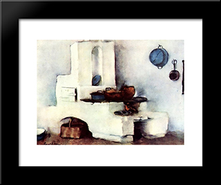 Kitchen: Modern Black Framed Art Print by Stefan Luchian