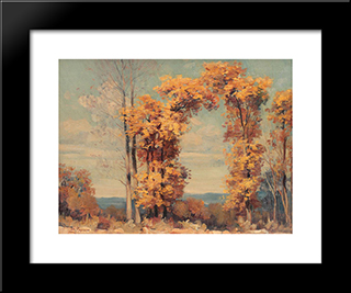 Autumn Landscape: Modern Black Framed Art Print by Stefan Popescu