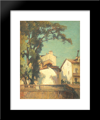Houses At Bonnieux: Modern Black Framed Art Print by Stefan Popescu