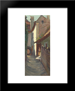 Street From Bretania: Modern Black Framed Art Print by Stefan Popescu