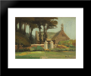 The Garden Of Finistere Chapel: Modern Black Framed Art Print by Stefan Popescu