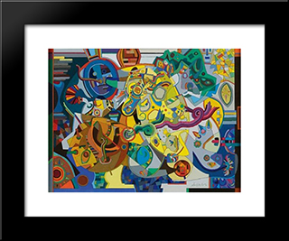 Jack - In - The - Box: Modern Black Framed Art Print by Steve Wheeler