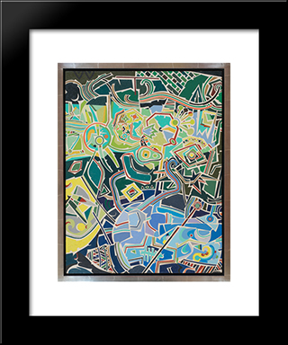 Julius Mayer Sonia: Modern Black Framed Art Print by Steve Wheeler