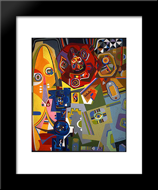 Laughing Boy: Modern Black Framed Art Print by Steve Wheeler