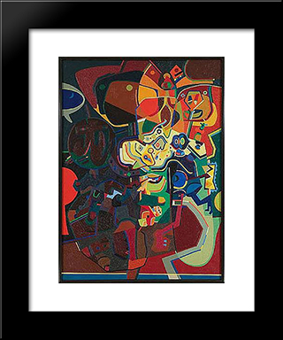 Pica Of T: Modern Black Framed Art Print by Steve Wheeler