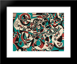 Prelude In Red: Modern Black Framed Art Print by Steve Wheeler