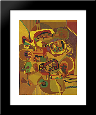 The Gold Cord: Modern Black Framed Art Print by Steve Wheeler