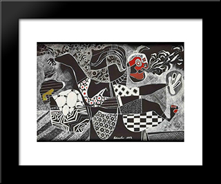 The Messenger: Modern Black Framed Art Print by Steve Wheeler