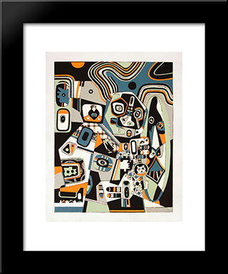 Two Smiles: Modern Black Framed Art Print by Steve Wheeler