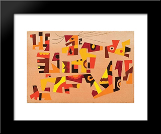 Untitled #39: Modern Black Framed Art Print by Steve Wheeler