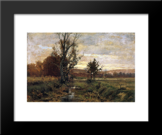 A Bleak Day: Modern Black Framed Art Print by T. C. Steele