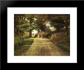 An Indiana Road: Modern Black Framed Art Print by T. C. Steele