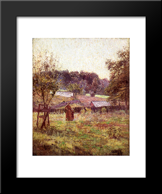 At Noon Day: Modern Black Framed Art Print by T. C. Steele