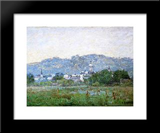 Brookville: Modern Black Framed Art Print by T. C. Steele