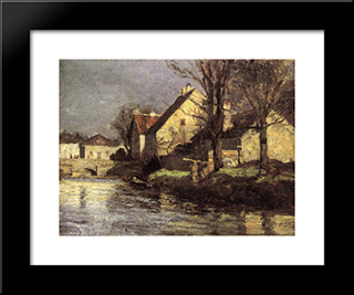 Canal, Schlessheim: Modern Black Framed Art Print by T. C. Steele