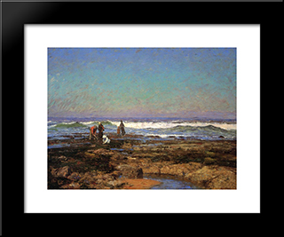Clam Diggers: Modern Black Framed Art Print by T. C. Steele