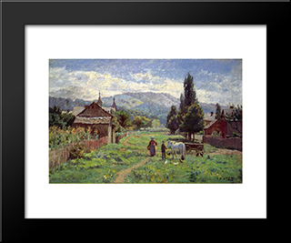 Cumberland Mountains: Modern Black Framed Art Print by T. C. Steele