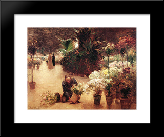 Flower Mart: Modern Black Framed Art Print by T. C. Steele